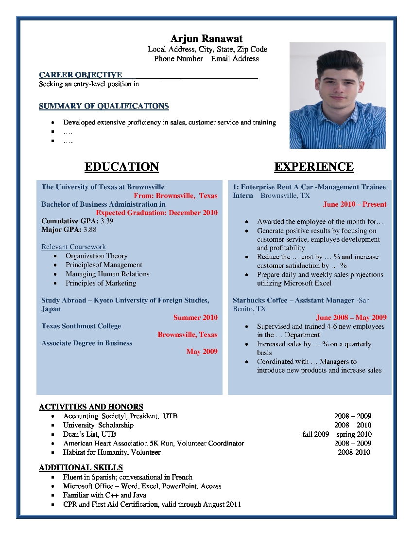 browse our popular resume template samples - Sample Resume Format Word