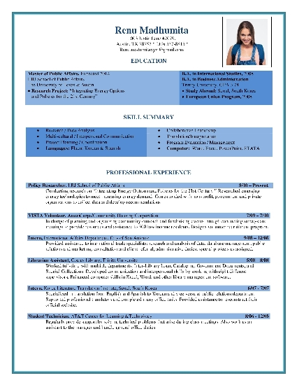 Download Free Professional Resume Templates. Sample Resume For Hr